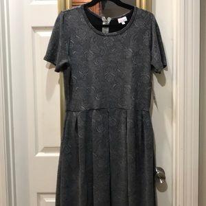 NWT LulaRoe Amelia grey rose dress